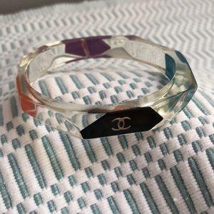 CHANEL multicolor lucite bracelet